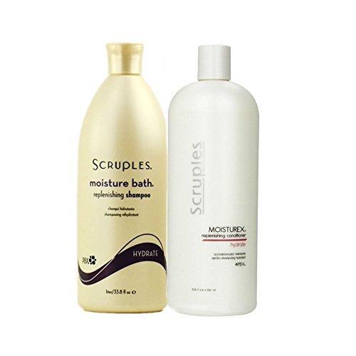Scruples Moisture Bath Replenishing Shampoo 33.8 oz, Moisturex Replenishing Conditioner 33.8 oz Set by Scruples