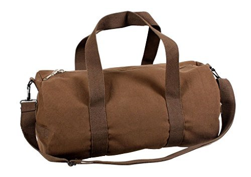 Sports Gym Shoulder Canvas Sport Shoulder Duffle Bag with Strap 19'' x 9'' (Color: Earth Brown) by Rothco