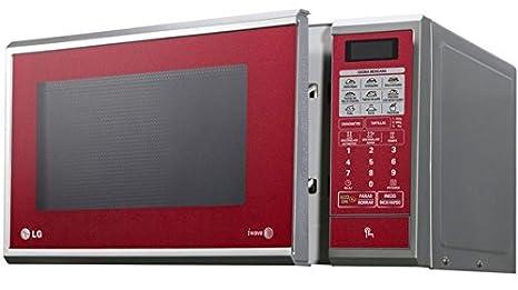 LG MS1143SR Encimera 31L 1000W Gris, Rojo - Microondas (Encimera ...
