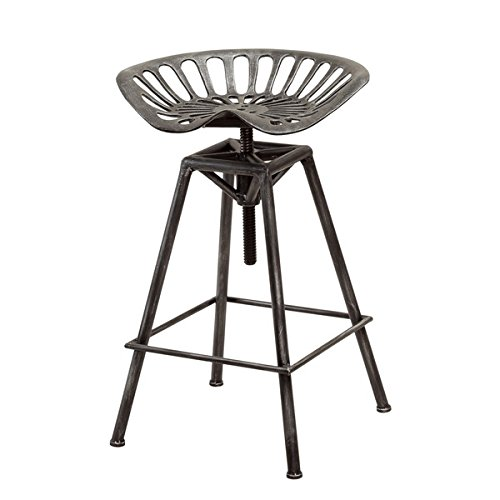 Christopher Knight Home Chapman Iron Saddle Black Barstool by Unknown