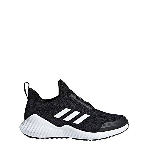 sex-Kids Fortarun Running Shoe, Black/White/Black, 4.5 M US Big Kid ()