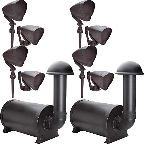 Niles Outdoor (8) Speaker System with (2) Subwoofers, Discreet and Hidden from Sight