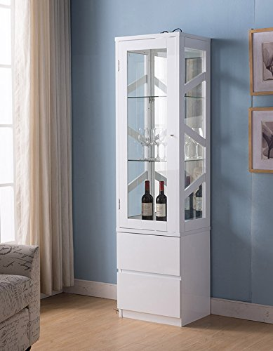 161472 Smart Home Wine Bar Attwell Edition Curio Display (Glossy ()