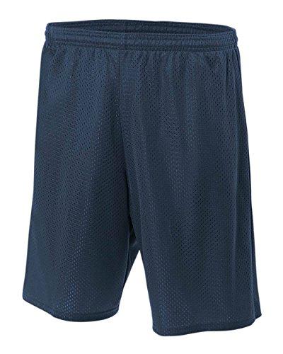 Knit marino A4 adultos malla corta Performance Wicking humedad azul azul para q1vWZw1IB