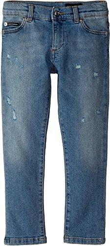 Dolce & Gabbana Kids Baby Boy's Five-Pocket Trousers (Toddler/Little Kids) Dark Blue - Blue Dolce And Gabbana Dark