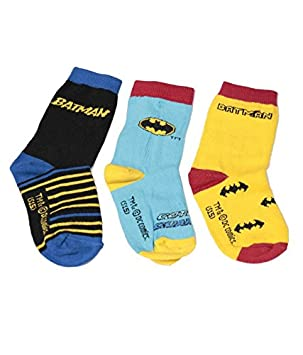 Batman - Calcetines 3 Pares Pack (ideal para 3 - 4 Años, niño): Amazon.es: Deportes y aire libre