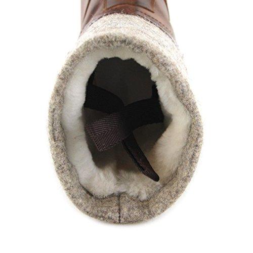 Sendra Støvler Sonia 12028 Tang / Kvinders Støvler Med Fåreskind Foring Og Kant Af Filt Brun / Vinterstøvler / Urbane Støvler Evo Tang QXt9ASWFeE