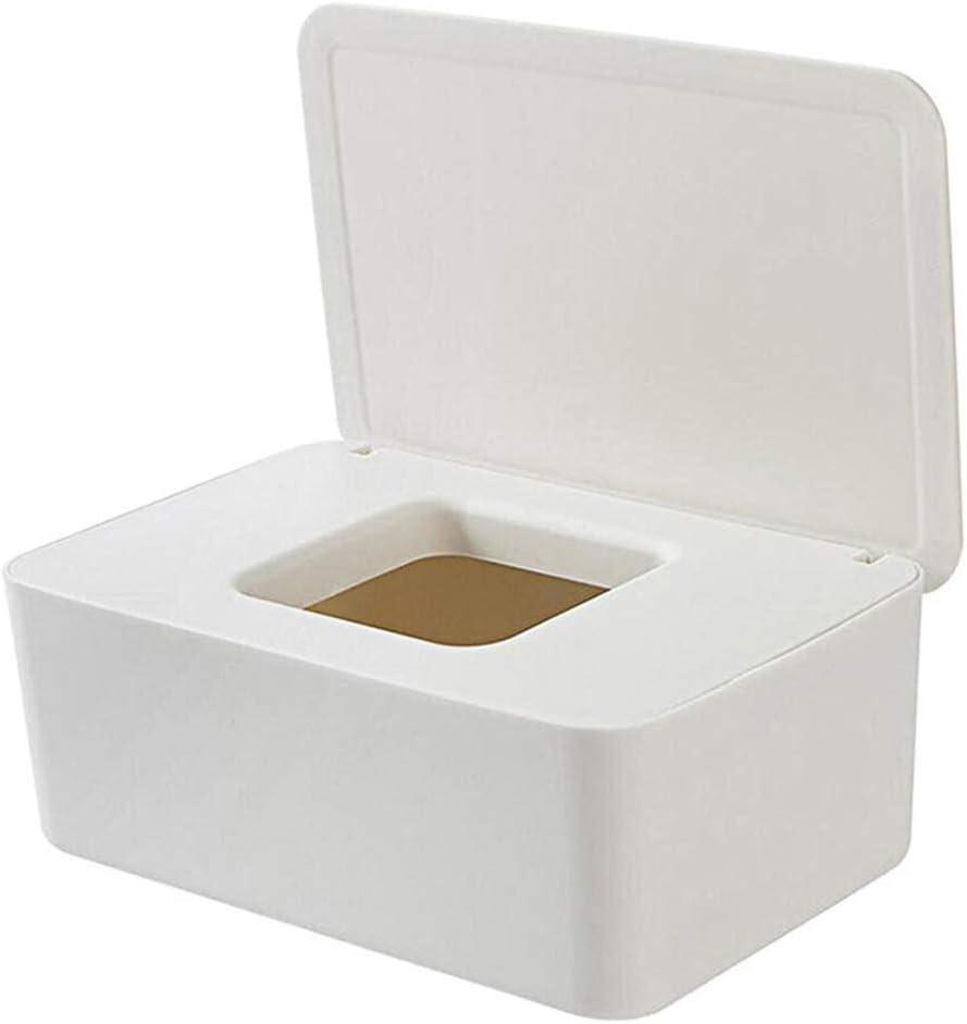 Gymoning Tissue Storage Case Dustproof Tissue Storage Box Case Wet Wipes Dispenser Holder with Lid for Home Office Desk