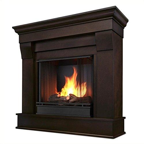 Real Flame Gel Fireplace Indoor Usage Heating Capacity 2.64 kW Dark Walnut 5910