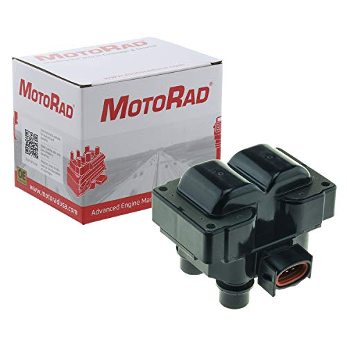 MotoRad 2IC106 Ignition Coil | Fits select Ford Crown Victoria, Escort, Explorer, Mustang, Ranger; Lincoln Continental, Town Car; Mazda 626; Mercury Cougar, Mountaineer. ()