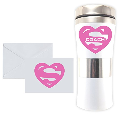 SUPER MUGS TM 15 Oz Insulated Travel Mug Stainless Steel & A