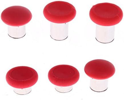 Almencla 8倍 弾丸 Abxyボタン 8倍 親指グリップ キャップ xbox elite Ps4用 赤 1つ