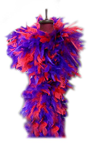 SACAS 100g Red and Purple Feather Chandelle Boa for Halloween, costume, party