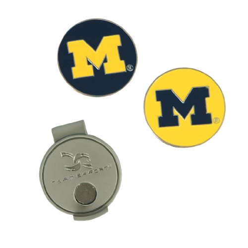 Team Effort Michigan Wolverines Hat Clip & 2 Ball Markers