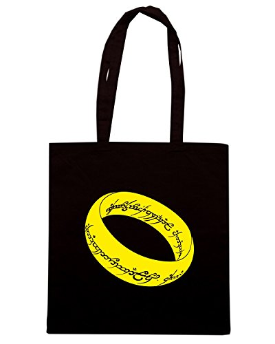 T-Shirtshock - Bolsa para la compra T0999 il signore degli anelli film inspired Negro