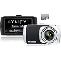 Dash Cam, 3.0 Screen Full HD 1080P Dashboard Camera for Cars, LYNIFY Immortals Car Camcorder, 170 Degree Wide Angle with G-sensor, Loop Recording, WDR Night Vision [16GB Micro SD Card is INCLUDED]