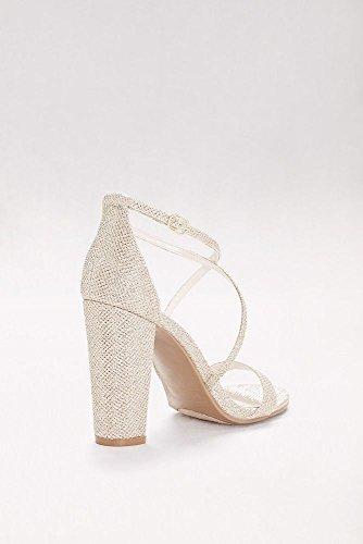 e43d009103d David s Bridal Crisscross Strap Block Heel Sandals Style - Import It All