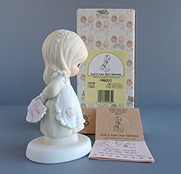 "Precious Moments ""God is Love Dear Valentine"" Porcelain Figurine"