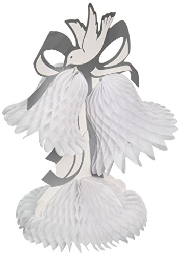 Beistle 55311-W Tissue Bell Centerpiece, 12-Inch (Center Wedding)