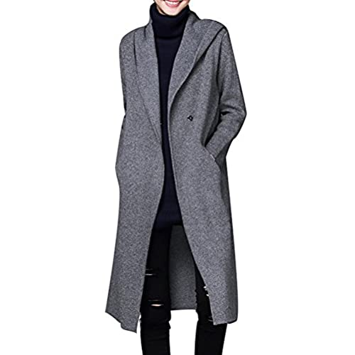 Knitted Long Hooded Sweater Coat: Amazon.com