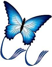 VOSAREA Vlindervlieger voor kinderen en volwassenen, gemakkelijk te vliegen mooie dierenvlieger kinderen interactief vliegend speelgoed voor buiten spel spelen strand park
