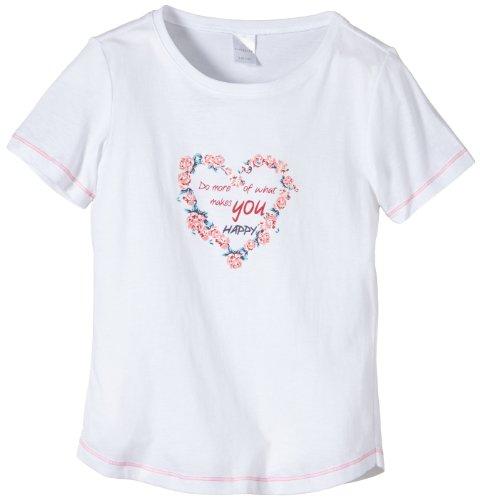 Schiesser Mädchen Schlafanzugoberteil Shirt 1/2, Gr. 140, Weiß (weiss 100)