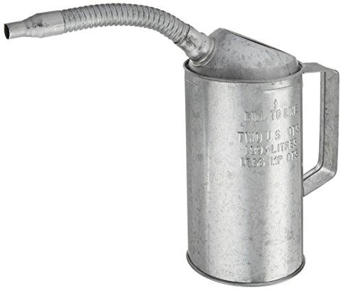 Plews 75-442 2-Quart Galvanized Measuring Canwith Flexible spout