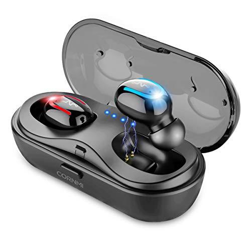 True Wireless Earbuds in-Ear Stereo Bluetooth Headphones Noise Cancelling Headsets Earphones Mini Wireless Headphone V5.0 Bluetooth Earbuds with Charging Case