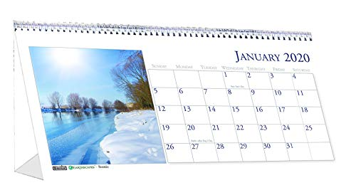 (House of Doolittle 2020 Monthly Desktop Tent Calendar, Scenic, 8.5 x 4.5 Inches, January - December (HOD3649-20))