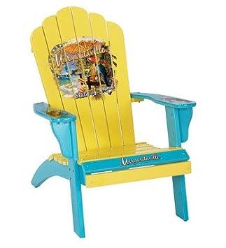 Rio Brands U0026quot;Margaritavilleu0026quot; Adirondack Wood Lounge Chair    Assorted Colors: Sea Blue