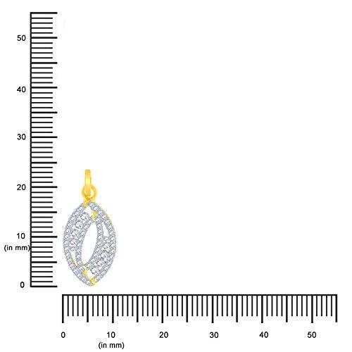 Giantti Diamant Pendentif Femme Collier (0.4444CT, VS Clarté, Gh-colour)