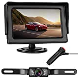 LeeKooLuu Backup Camera and Monitor Kit Easy Installation for Cars,RVs,Trucks,Pickups Waterproof Night Vision Rear View Camera Single Power System Reverse/Continuous Use Grid Lines