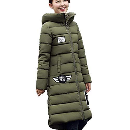 De Manga Schwarz Moda Acolchado Invierno Outdoor Pluma Mujer Larga Abrigo Parkas Anchas Mode Marca Espesar Elegantes Plumas Casuales Largos Caliente Encapuchado 1wC468