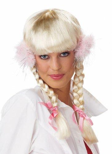 Parrucca Donna Lunga Bionda con trecce