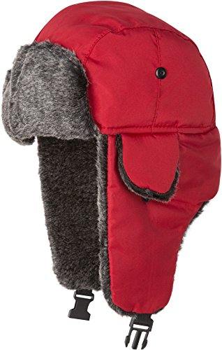 (Sakkas 12TrooperSY Charlie Unisex Faux Fur Nylon Trooper Hat - Red)