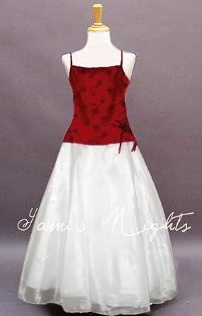 dc783441ea3fe Robe de cérémonie enfant - Taille   4 Ans - blanche et bordeaux ...