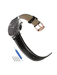 Watch Band Leather Strap Bracelet 18mm 19mm 20mm 21mm 22mm Steel Pin Normal Rose Gold Buckle Gold Clasp Replacement CHIMAERA