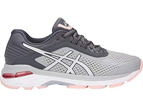 ASICS Women's GT-2000 6 Running Shoes, 8.5M, MID Grey/Silver/Carbon (Asics Running Shoes Women Gt)