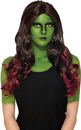 UHC Gamora Marvel Guardians Of The Galaxy Halloween Costume Wig Accessory