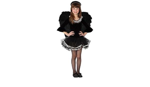 Disfraz de ángel negro niña - De 5 a 6 años: Amazon.es: Juguetes y ...