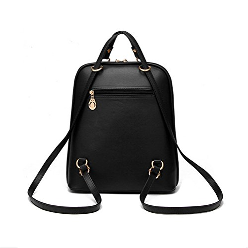 Hynbase Women's Summer Cute Korean Leather Student Bag Backpack ...