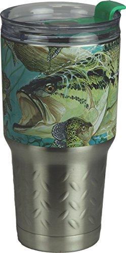 River's Edge Guy Harvey ss Tumbler-Bass Sports Water Bottles, Green, 24 oz