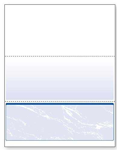 DocuGard Standard Blue Marble Bottom Check, 24 Pound, 8.5 x 11 Inches, 500 Sheets - Online E Buy Vouchers