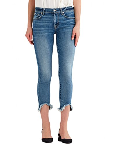 7 For All Mankind Women's Roxanne Ankle w/Wave Hem in Canyon Ranch Canyon Ranch 27 (7 For All Mankind Jeans Roxanne)