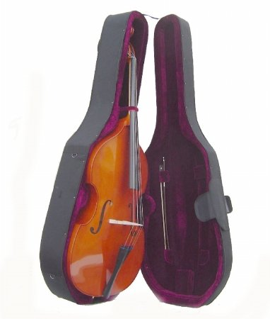Merano 3/4 Size String Bass with Hard Case, Bag, Bow, 2 Sets of Strings+Music Stand+Metro Tuner by Merano