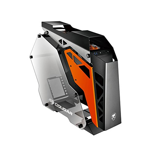 Cougar CONQUER ATX Gaming Case -  / Mini ITX / Micro ATX PC Case /  ATX Computer Case- Mid Tower -Tempered Glass - Fan and Water Cooling Support by Cougar gaming