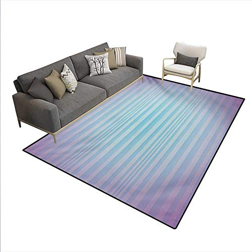 Carpet,Abstract Rising Colors Motif Minimalist Effects Striped Concept Artwork,Rug Kid Carpet,Blue Purple,5'x7' - Concepts Striped Rug