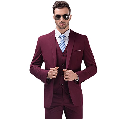 Red 3 Piece Suit - 2
