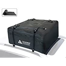 Leader Accessories Car Rooftop Cargo Bag Waterproof Cargo Carrier With Racks15 Cubic Feet With Anti-slip Mat
