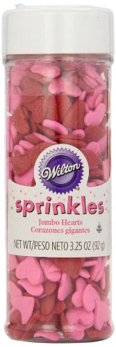 Wilton Jumbo Hearts Sprinkles, 3.25oz